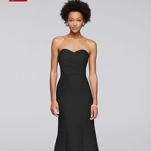 Structured Mikado Strapless Long Dress